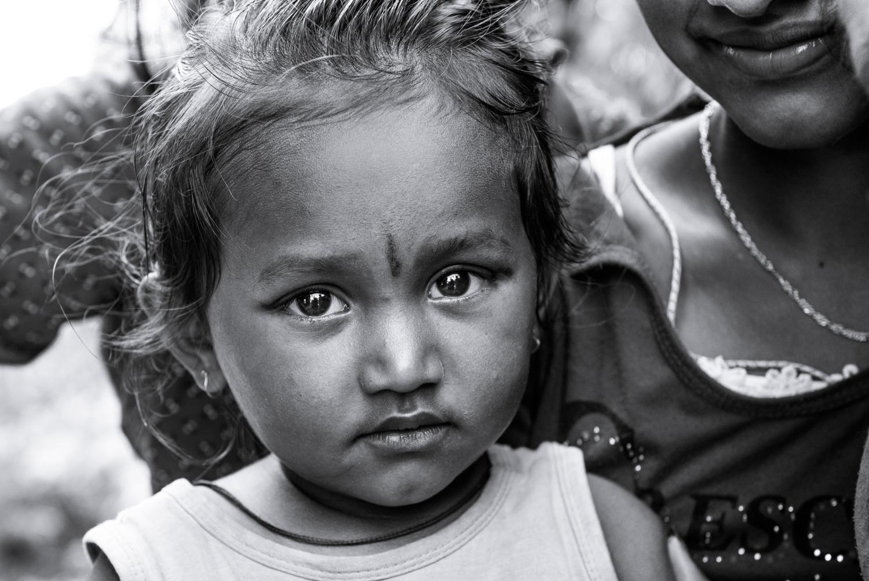 A beautiful child in a remote village - Khari, Nepal.