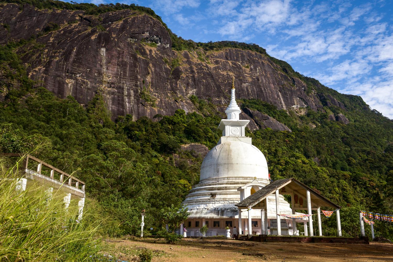 A buddhist temple near Adam's Peak.