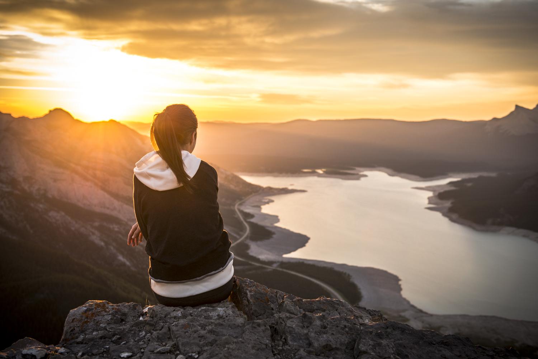 Abraham Lake at Sunrise