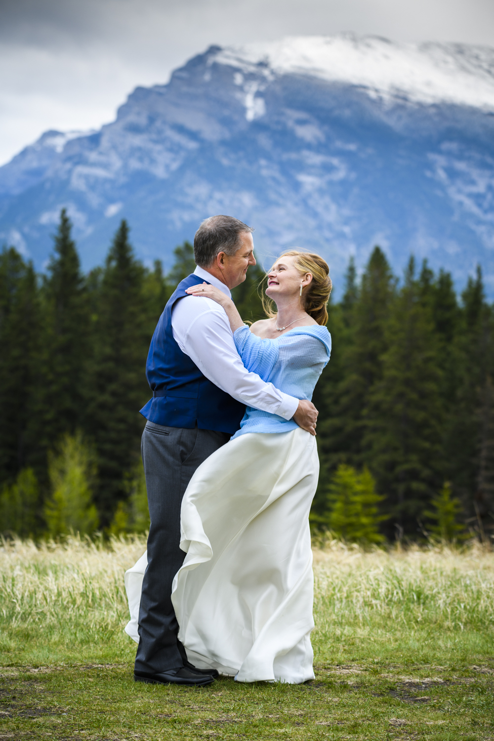 Karen and Todd's canmore wedding at Quarry Lake