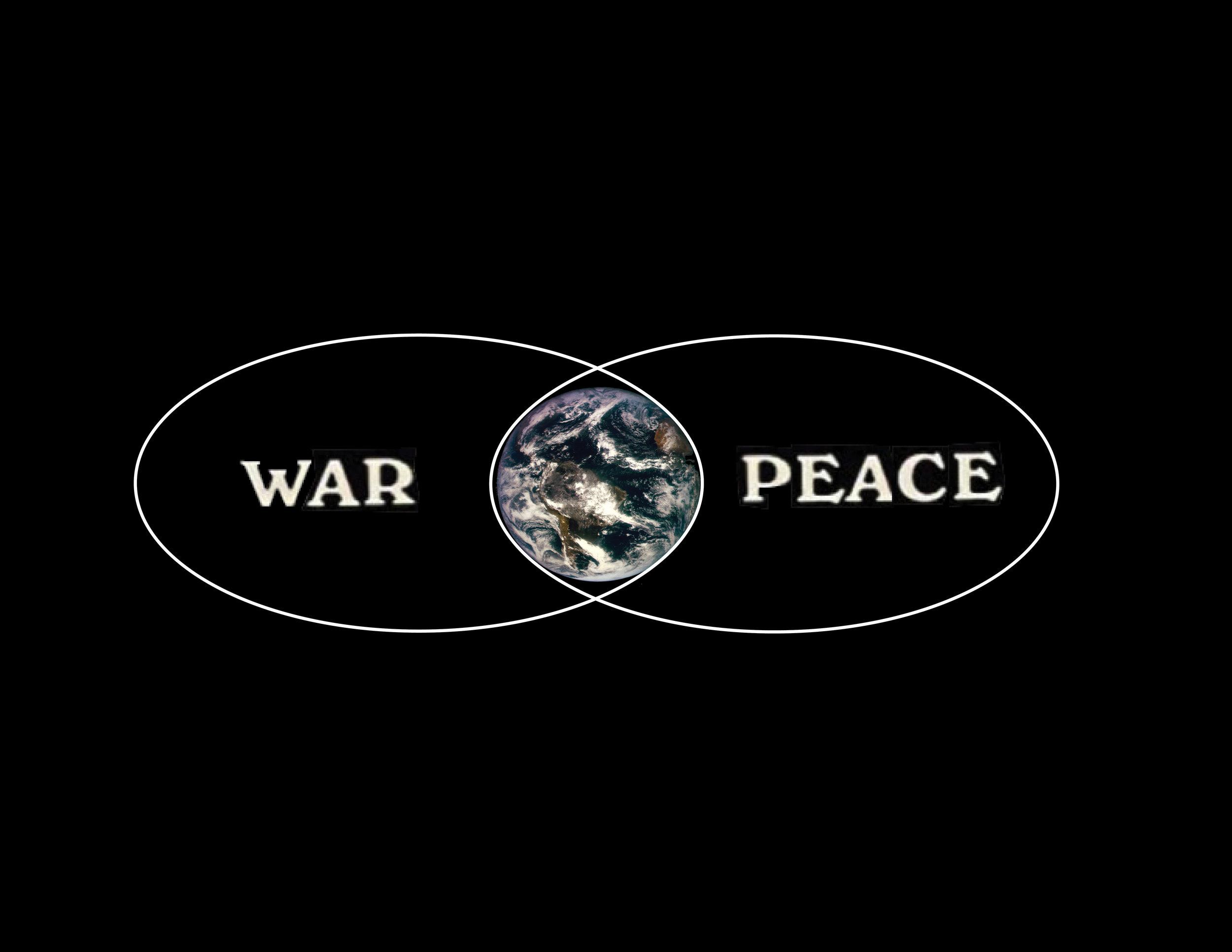 WAR WORLD PEACE VENN DIAGRAM