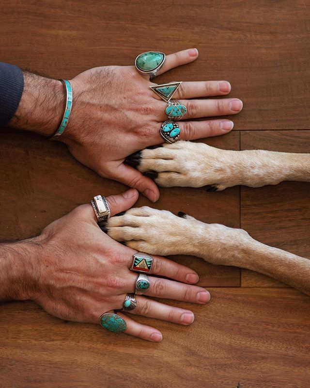 Came to the South to sniff out more vintage turquoise with my favorite coonhound and hang with my bests.  https://www.etsy.com/shop/reallykindofamazing