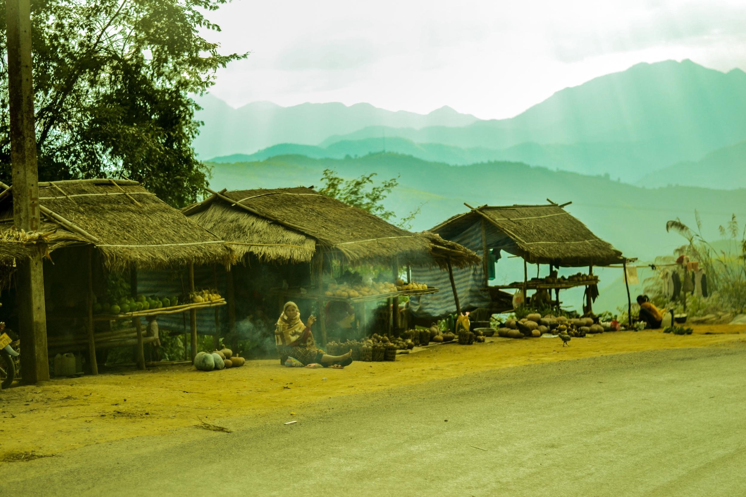 Market. Highway 13, Laos.