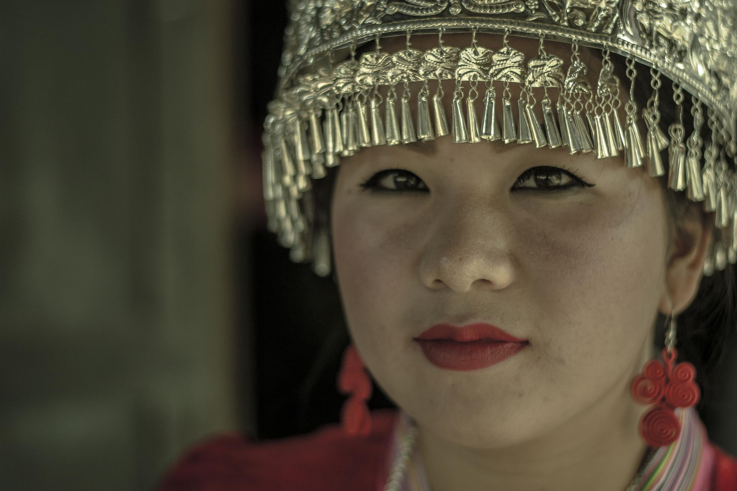 Nag ready for Hmong New Year festivities. Laos