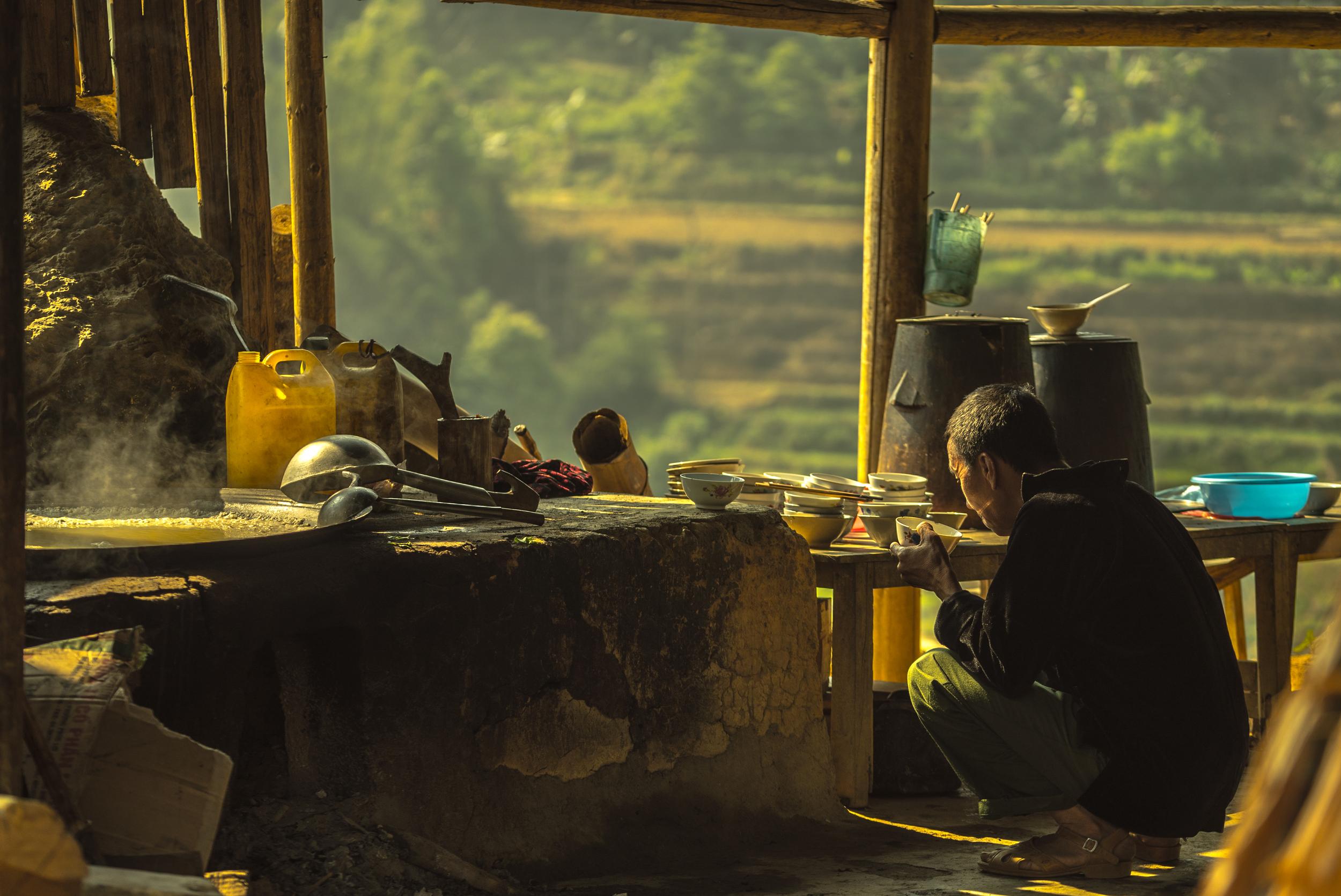 Sunrise soup. Can Cau, Vietnam