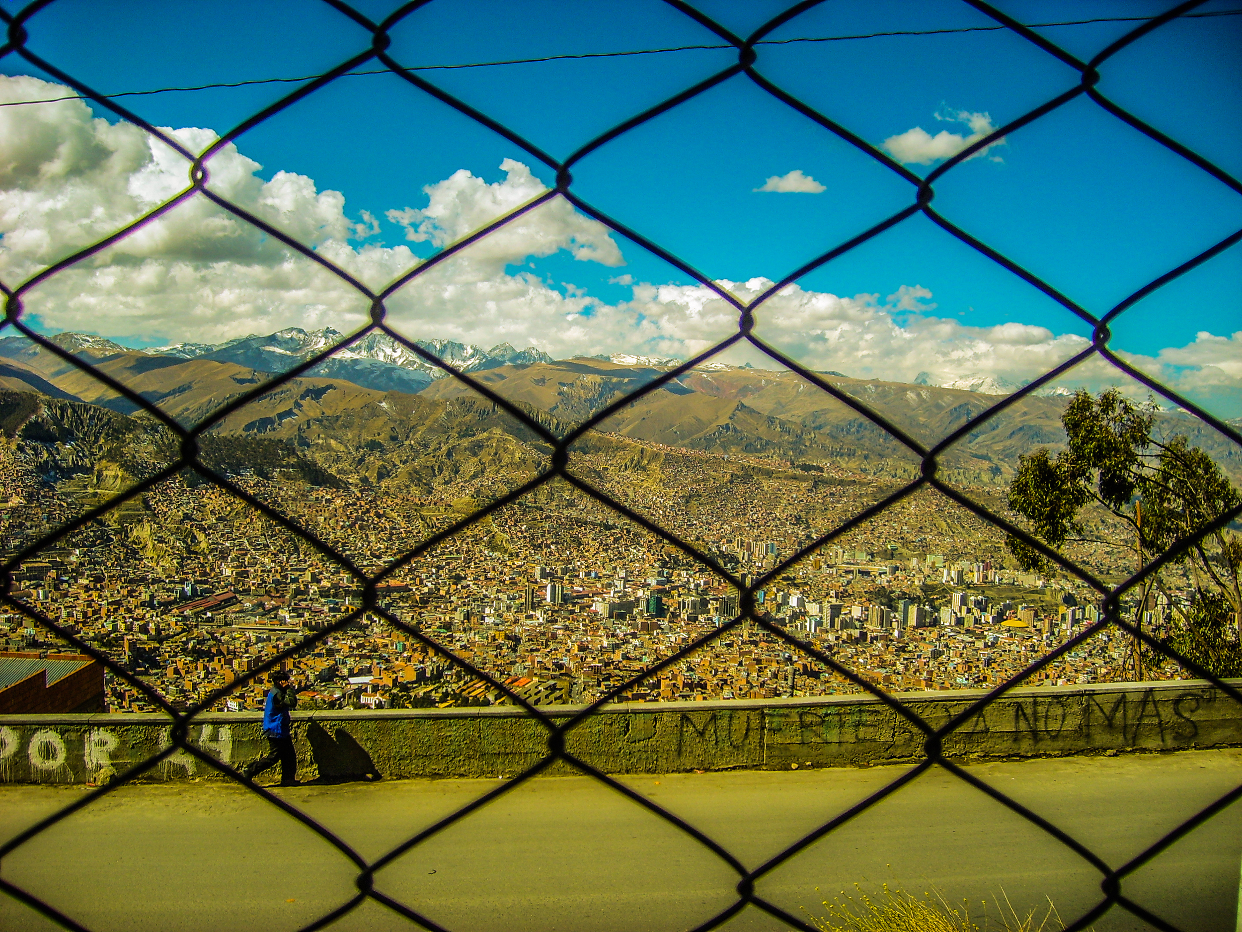 Edge of La Paz, Bolivia