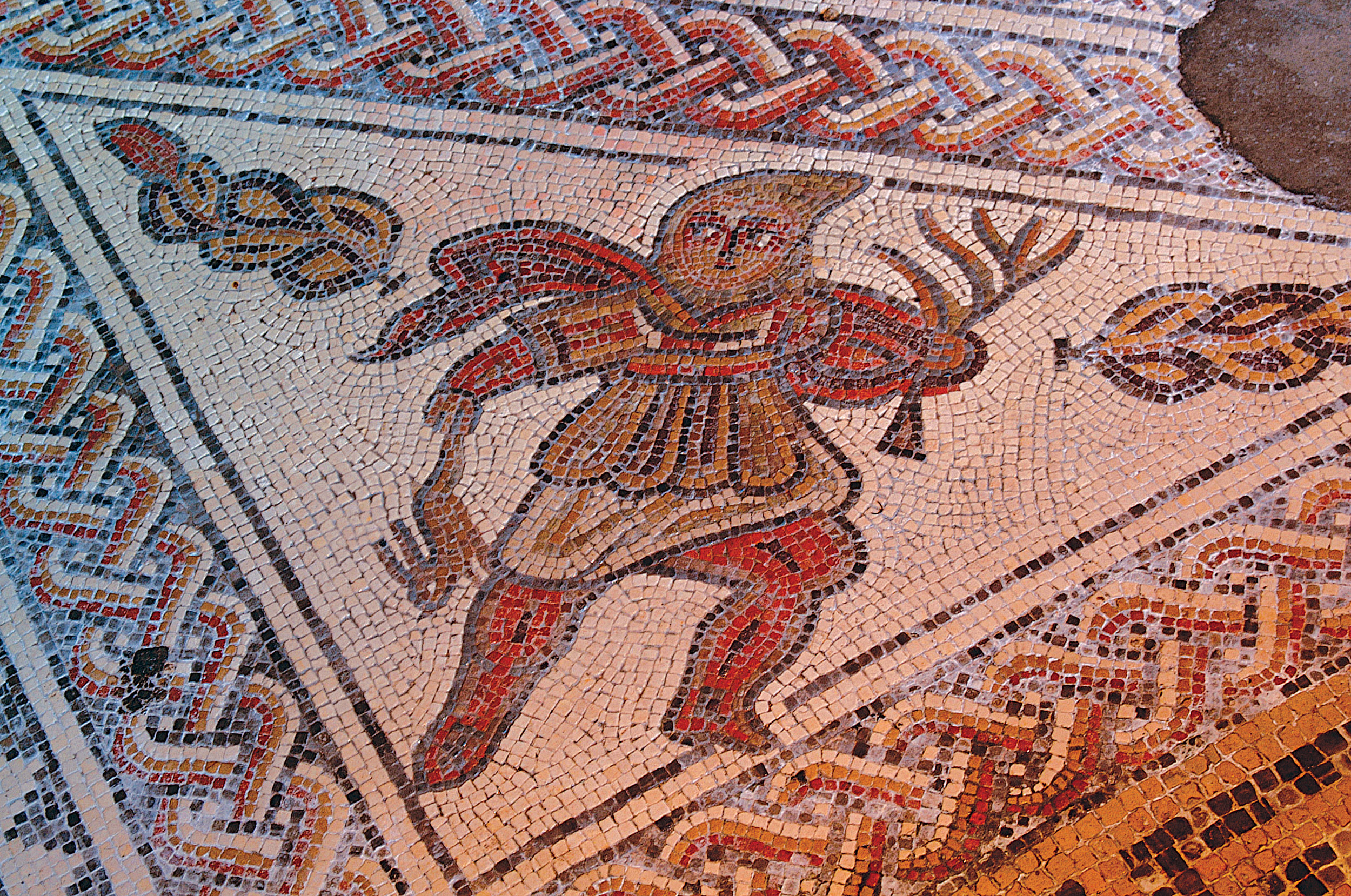 Chedworth Roman Villa Mosaic of Spring, Chedworth, Glos.jpg