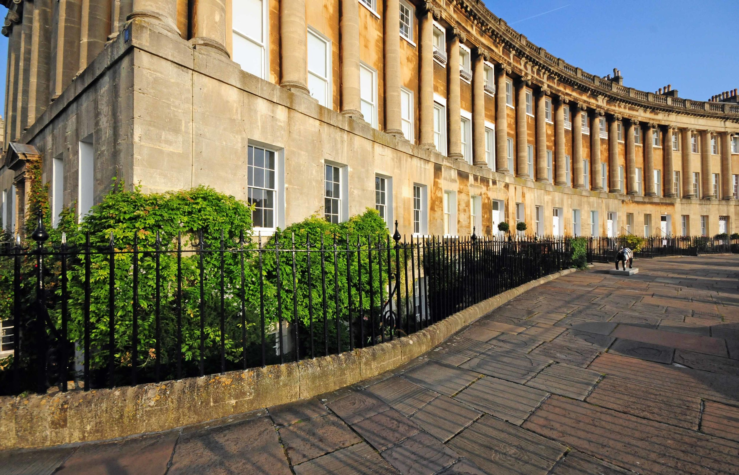 2176. Curved Railings, The Royal Crescent, Bath, England.jpg