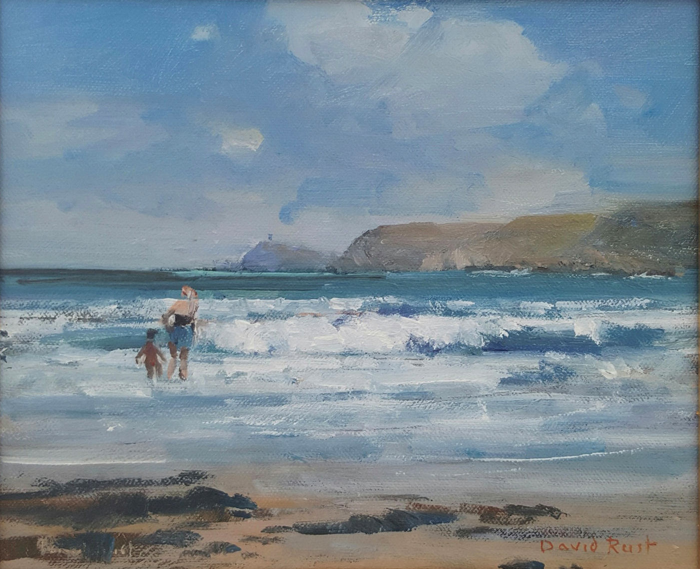 A paddle with mum, Sennen Cove DR.jpg