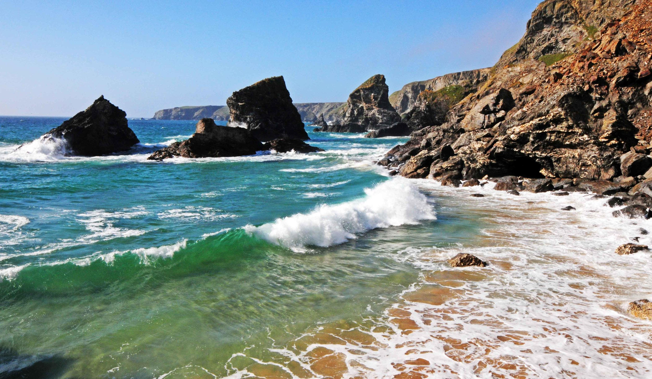 High Tide, Bedruthan Steps.jpg