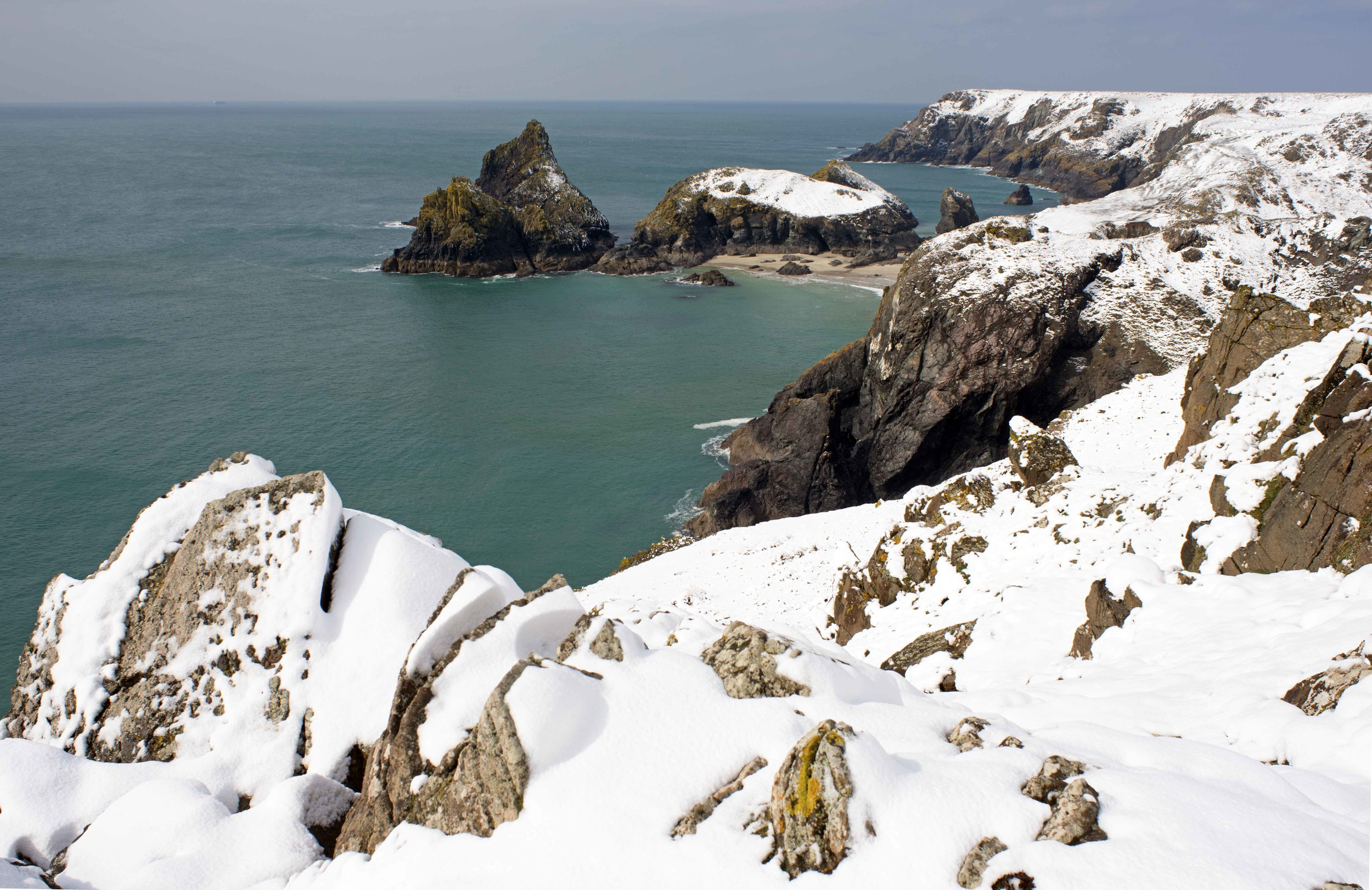 Kynance Cove in Snow, Cornwall.jpg