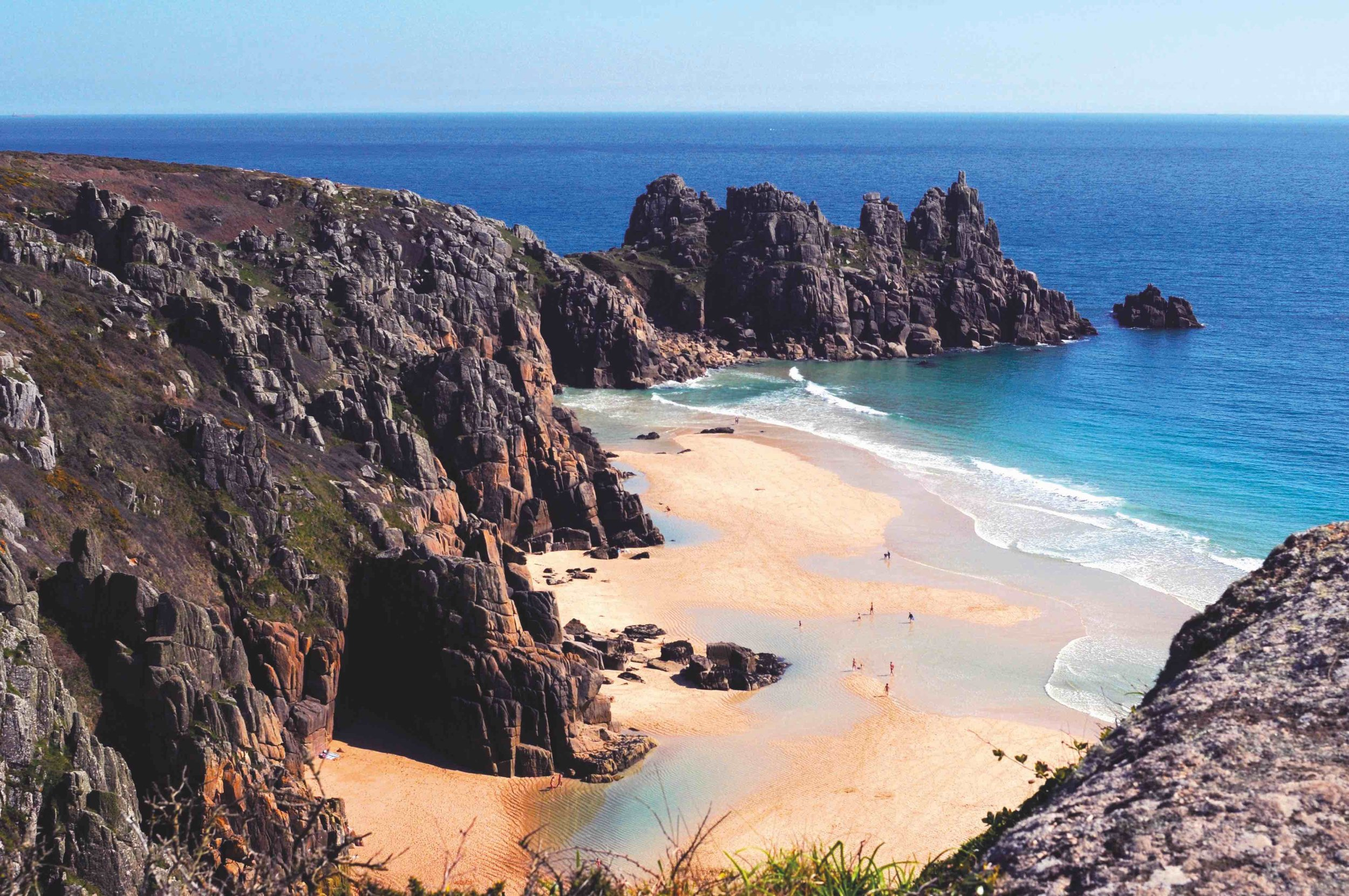 Logan Rock behind Porthcurno Sands 0415 copy.jpg