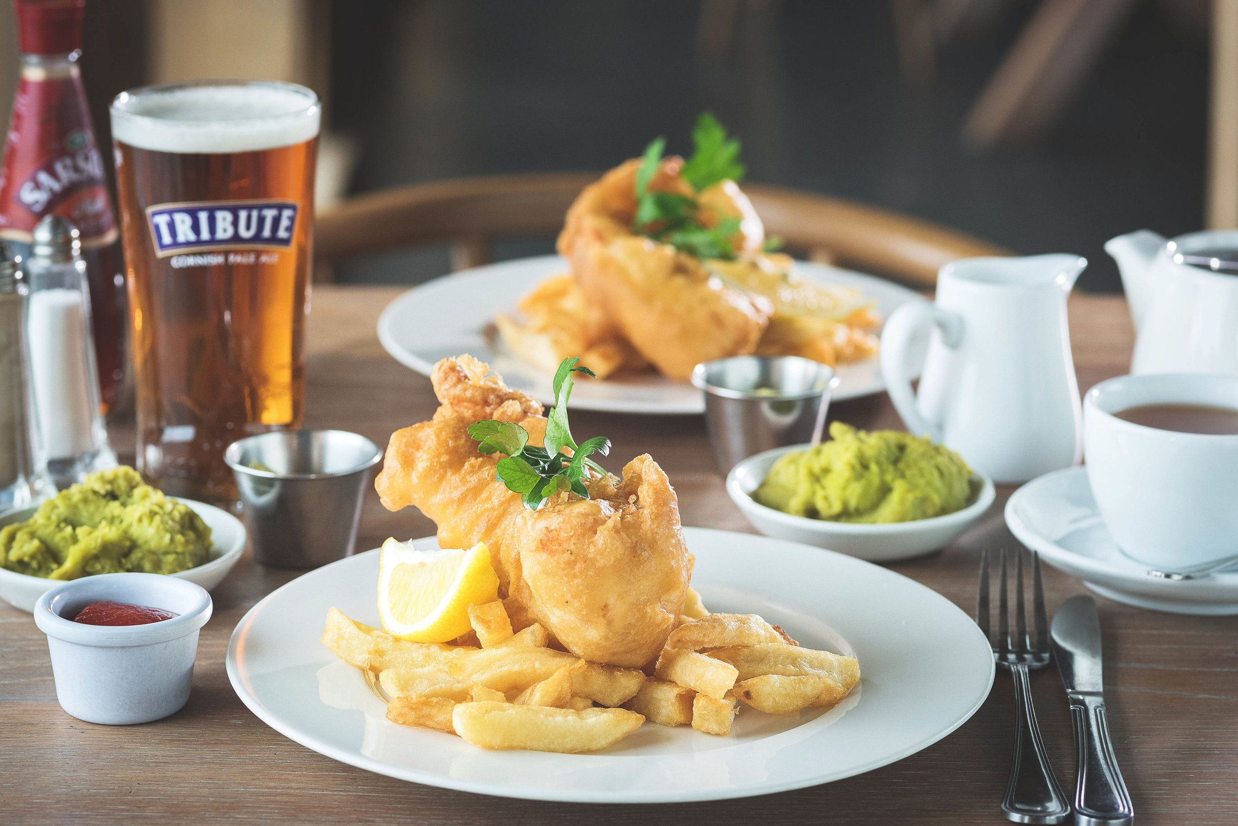 Fish and Chips at The Cornish Arms - Copyright James Ram.jpg