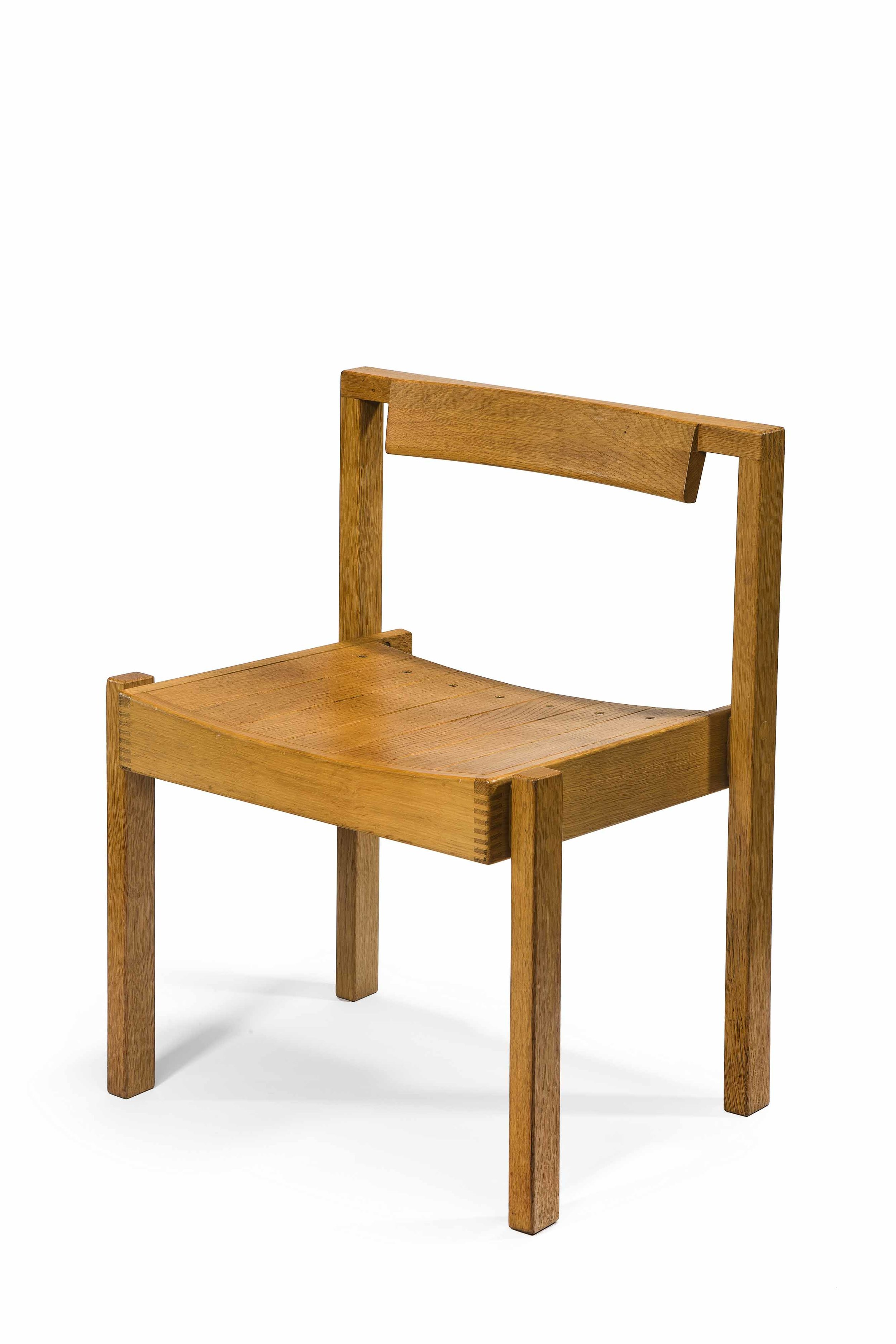 Stacking chair designed for Coventry Cathedral, Designed by R.D. Russell, English Oak.jpg