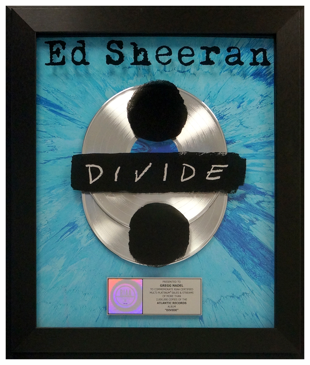Ed Sheeran DIVIDE plaque.jpg
