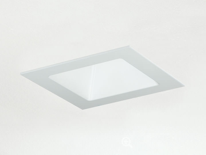 Square Trimmed Adjustable Matte White with No Lens