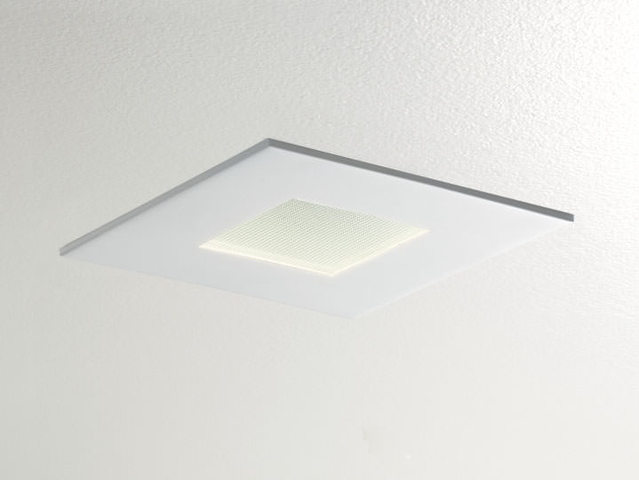 Square Pinhole Downlight in Matte White with Micro Prism Solite Lens