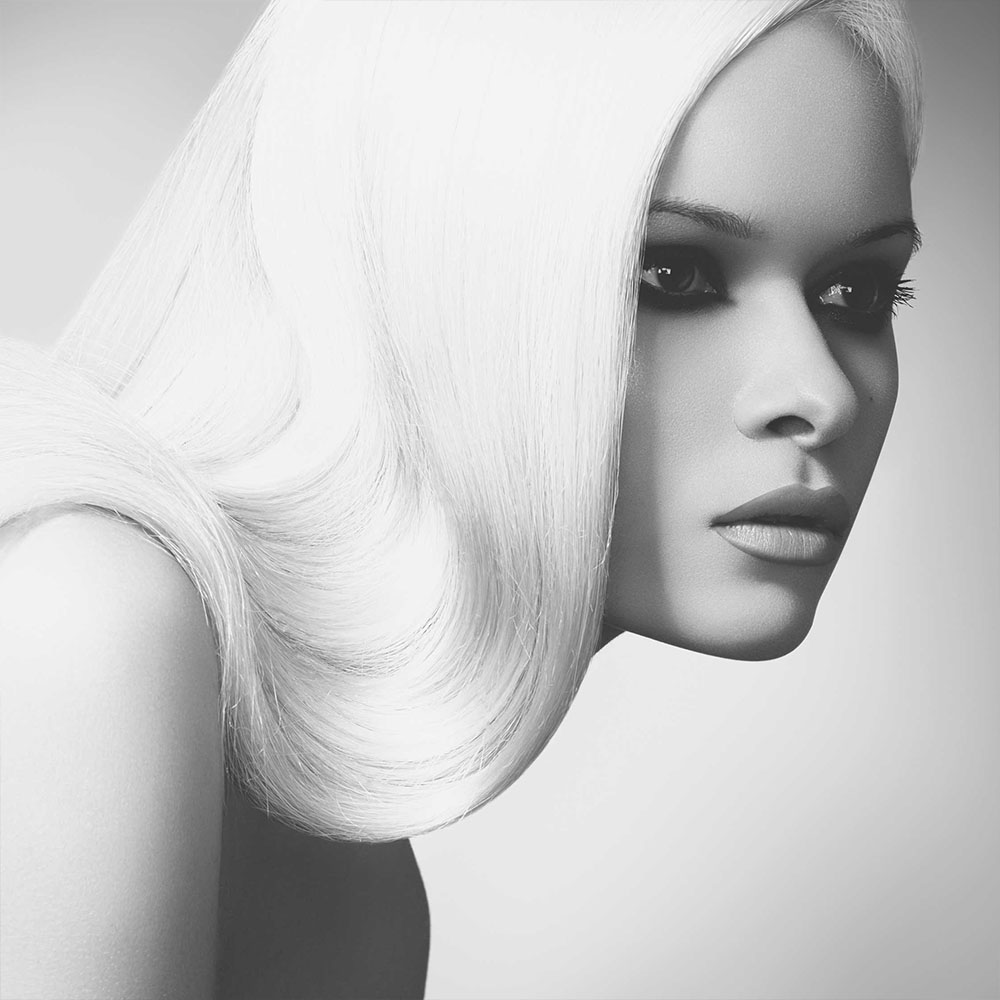 Long, Blonde Straight micro ring hair extensions by Richard Harrison Hair