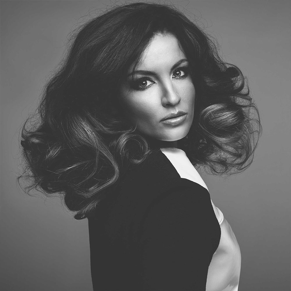 Curly micro ring hair extensions by Richard Harrison Hair