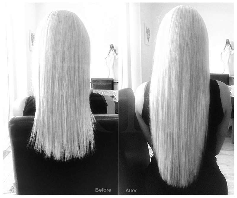 Invisible, natural looking micro ring hair extensions