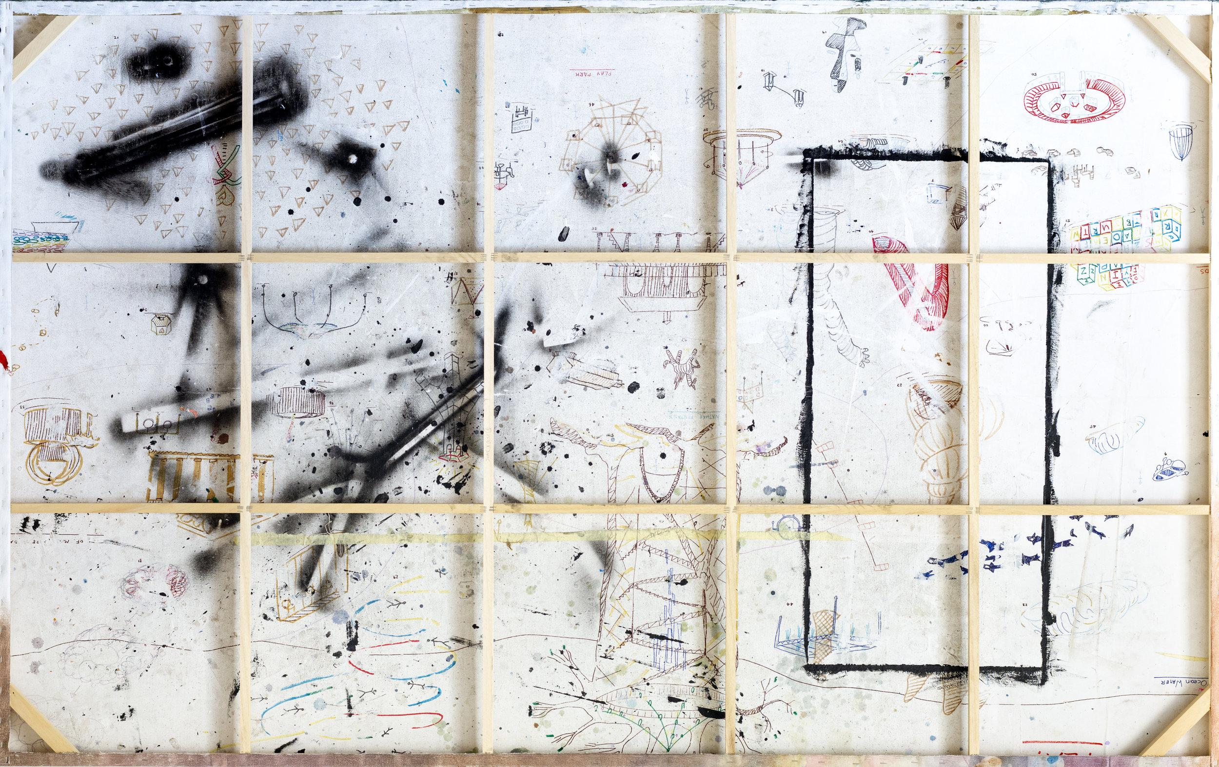 Flipside_Suburban Park Ruffians. w240cm x h150cm. Ink and Spray on Canvas.jpg