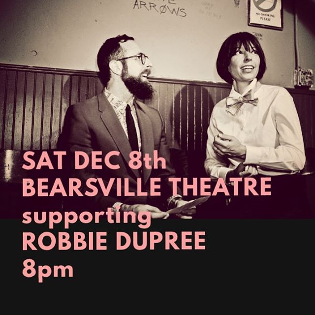 Looking forward to supporting and playing with #robbiedupree this Saturday dec 8th night @bearsvilletheater. Doors 7pm @thehipstones at 8pm followed by Robbie Dupree & Friends. Follow link in bio for details.