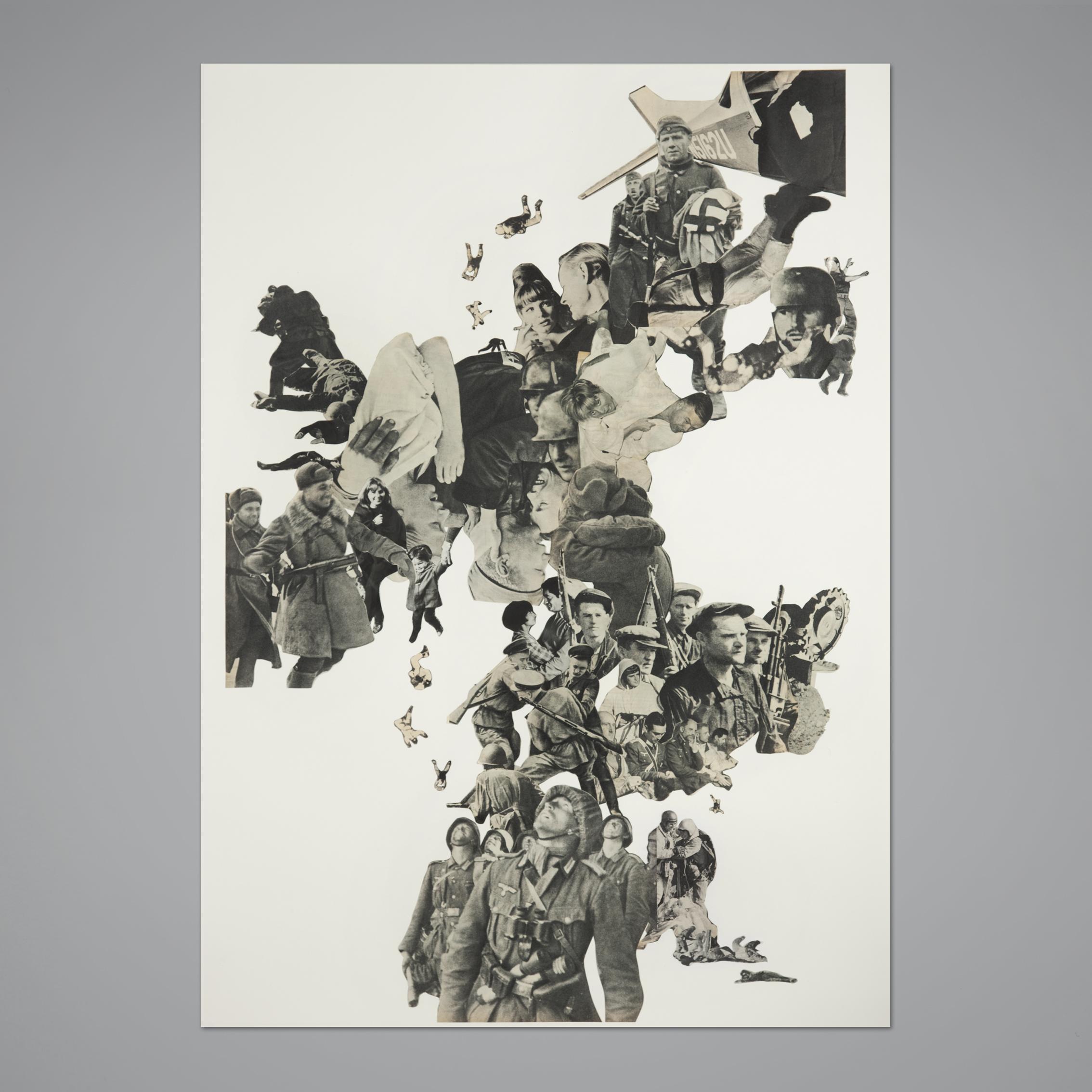 Paris Match, N° 824, 23 janvier 1965.Handmade collage, 70x100 cm, 2013