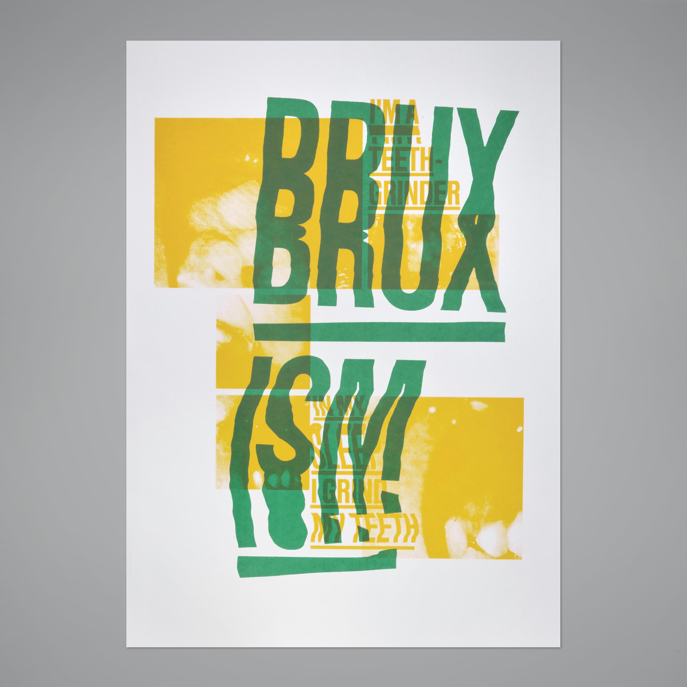Bruxism –2colors screenprint,50x70 cm, 2012