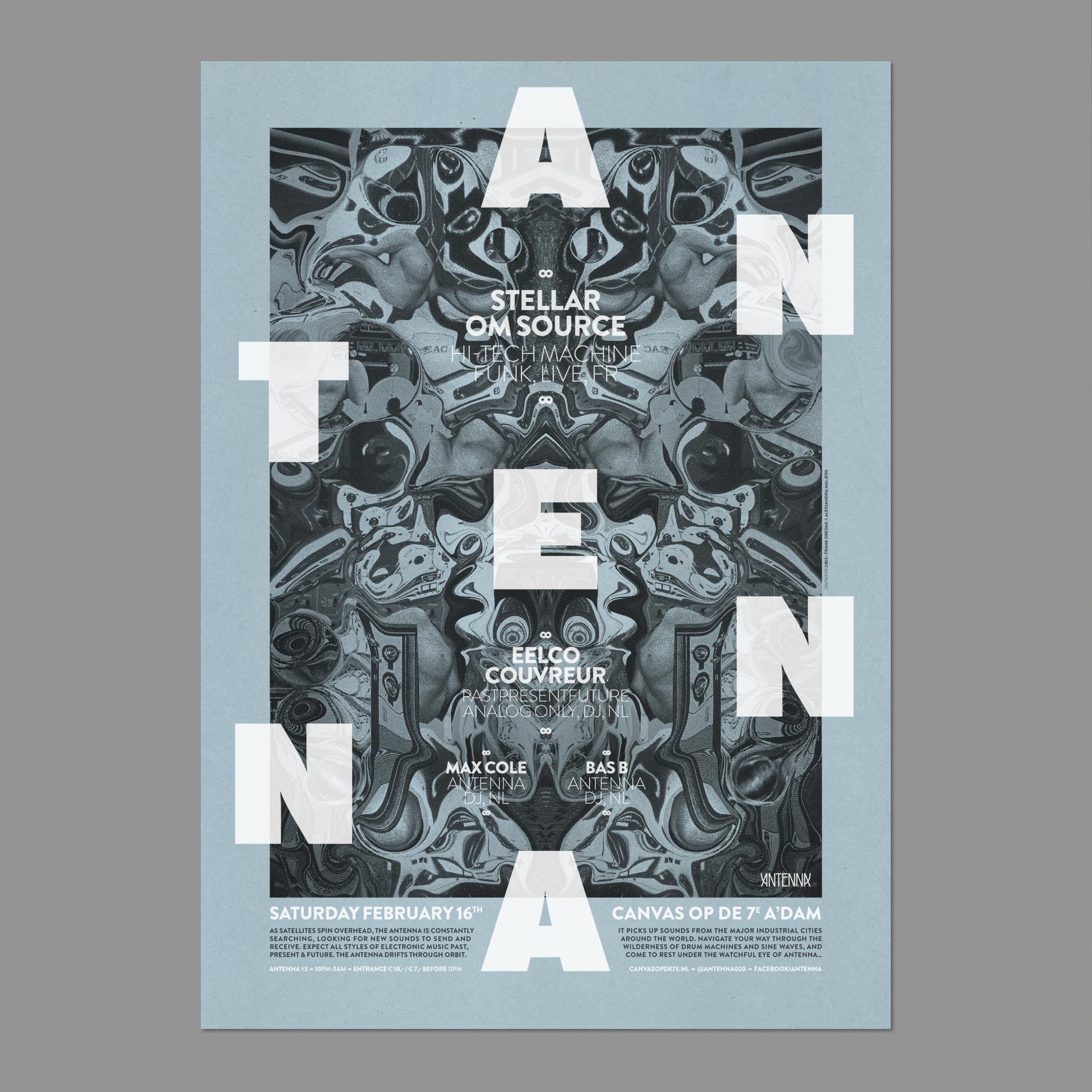 Antenna –Screen printed poster, 2012