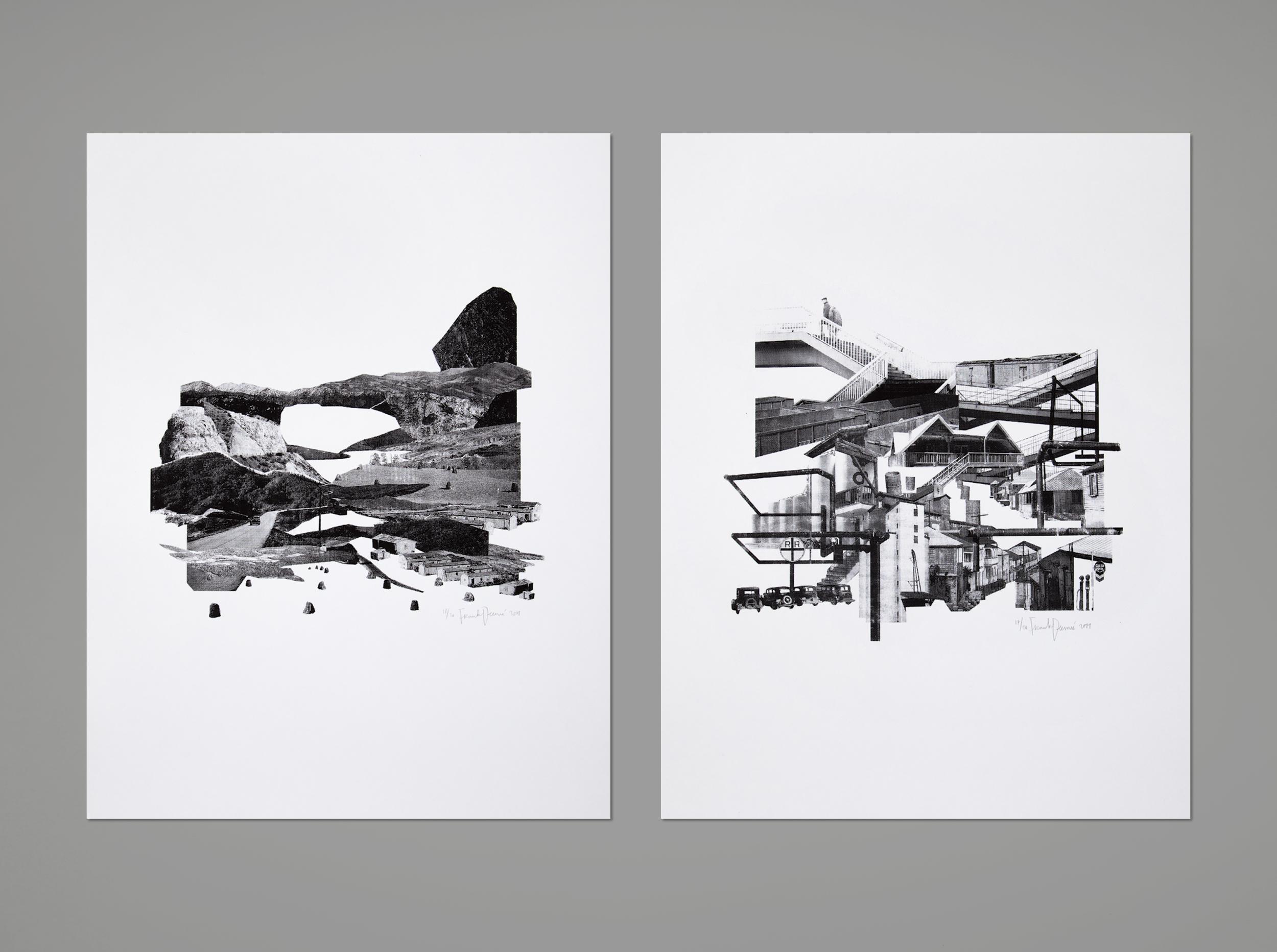 Landscapes – 1colorscreen prints,50x70 cm, 2013