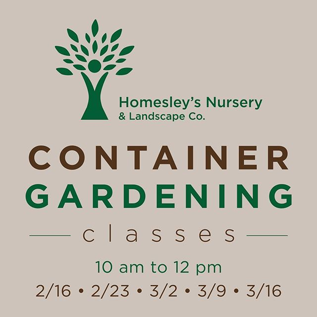 Looking to grow a glorious garden to make your neighbors GREEN with envy?! 🌿🤗 Join us for one of our upcoming container gardening classes, taught by owner and founder John Homesley. Classes are from 10 am to noon on the Saturdays listed and seating is limited. OH! Did we mention that classes are F R E E ? 🤑