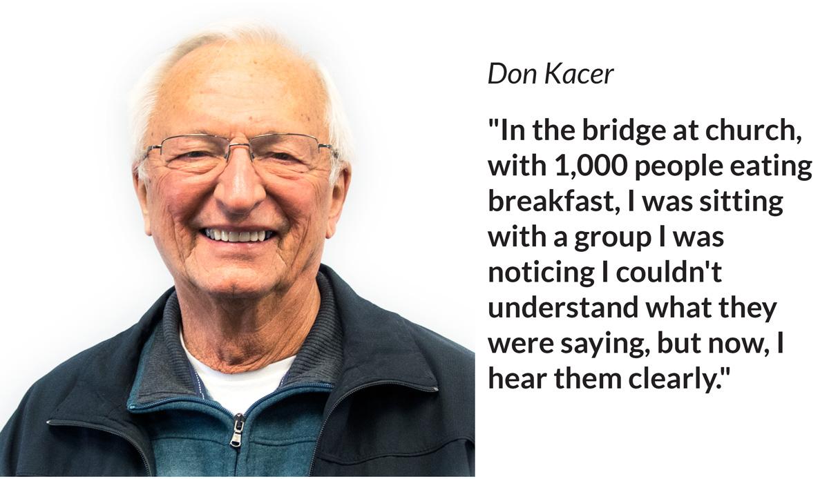 Hearing Testimonial Don Kacer