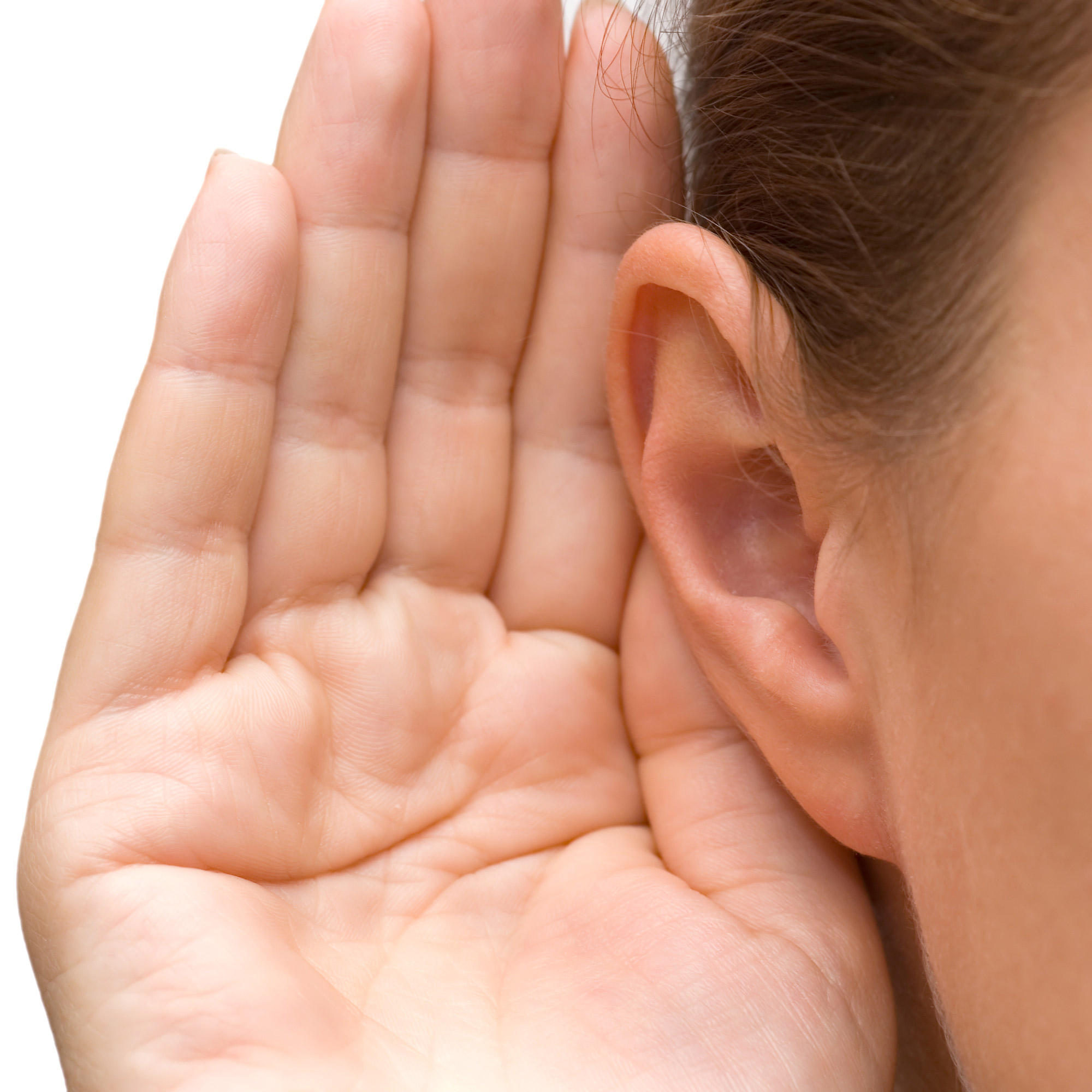 Cupping your hand to your ear may help you to hear, but it isn't a permanent solution.