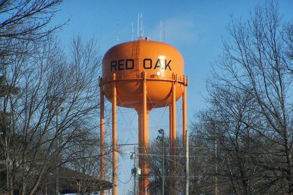 Red Oak, Iowa's Water Tower