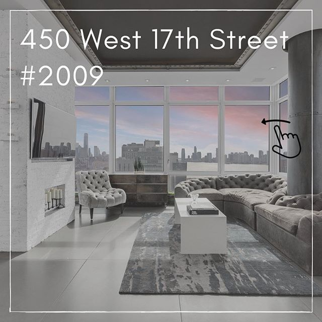 💫Just Listed!! 💫  I'm thrilled to introduce you to 450 West 17th street, 2009  The apartment is a newly renovated 3 bedroom/3 bathroom home right on the High Line! This sunny, corner unit has views in every direction - of the Hudson River, Downtown Manhattan, and the Empire State Building. 2009 is in mint condition, having been gut-renovated and exquisitely designed to give you the ultimate chic downtown feel!  For more information, click on the link in my bio.