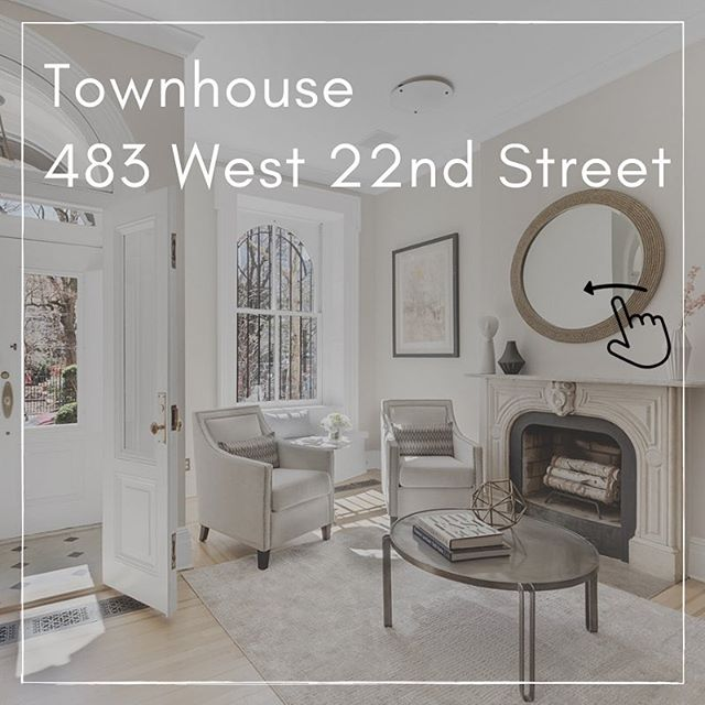 🏡 Just Listed! 🏡  I'm thrilled to introduce you to our newest townhouse listing at 483 West 22nd Street!  483 West 22nd Street is a five-story single-family townhome with a stately brick and brownstone façade. Built in 1856 and lovingly maintained, the house sits on a picturesque tree-lined street in the Chelsea Historic District, directly across from Clement Clarke Moore Park. The home is configured with six bedrooms and five and a half bathrooms and has its own private garden.  For more information, click the link in my bio!