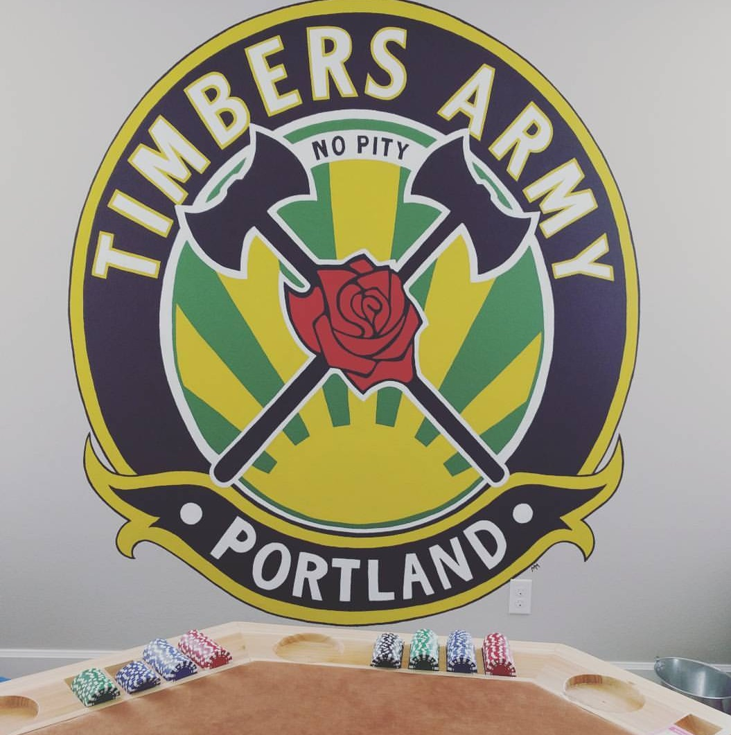 Timbers Army Mural 6'x6'