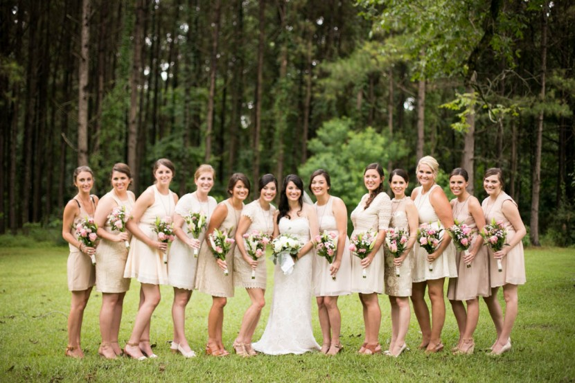 Anna Pate Garmon, St. Francisville Weddings, Bridal Party