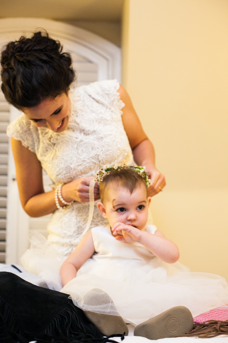 New Orleans weddings bride and flower girl
