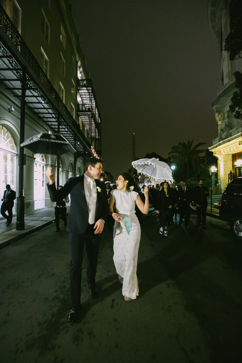 New Orleans wedding photographer second line