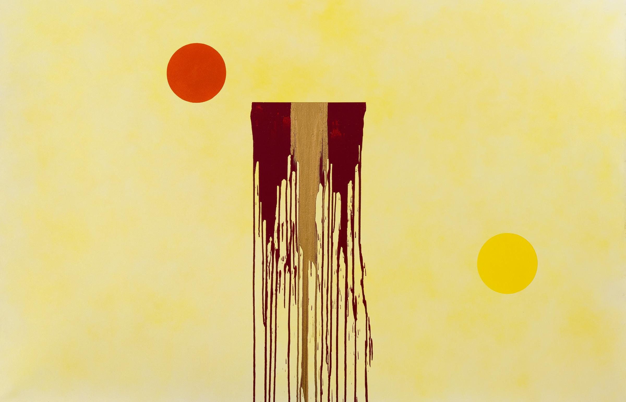"""Shaman's Dream, acrylic on canvas, 54"""" x 84"""", 2015"""