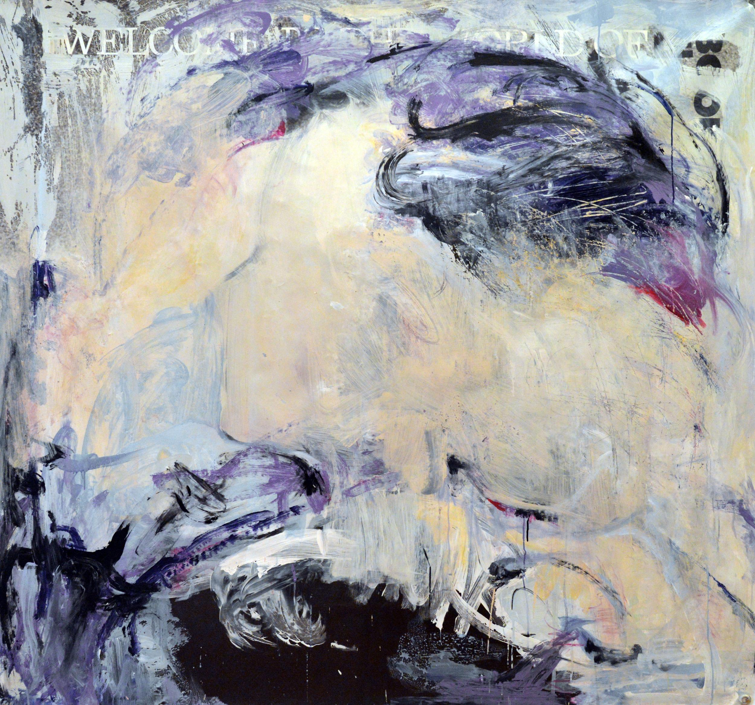 Explore, acrylic on vinyl, 2015