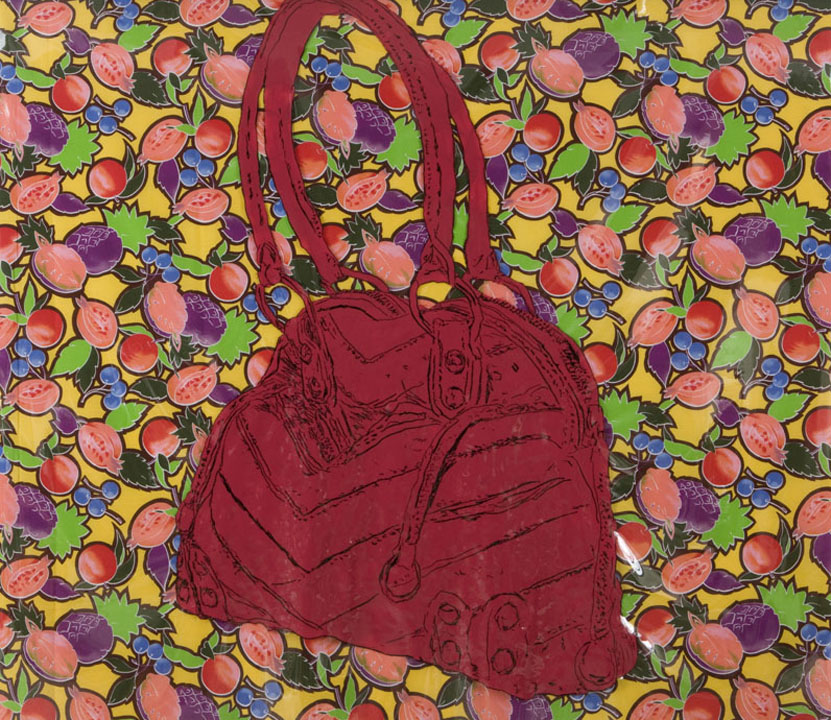 Robin Gaynes-Bachman, Red Linea Pelle Bag