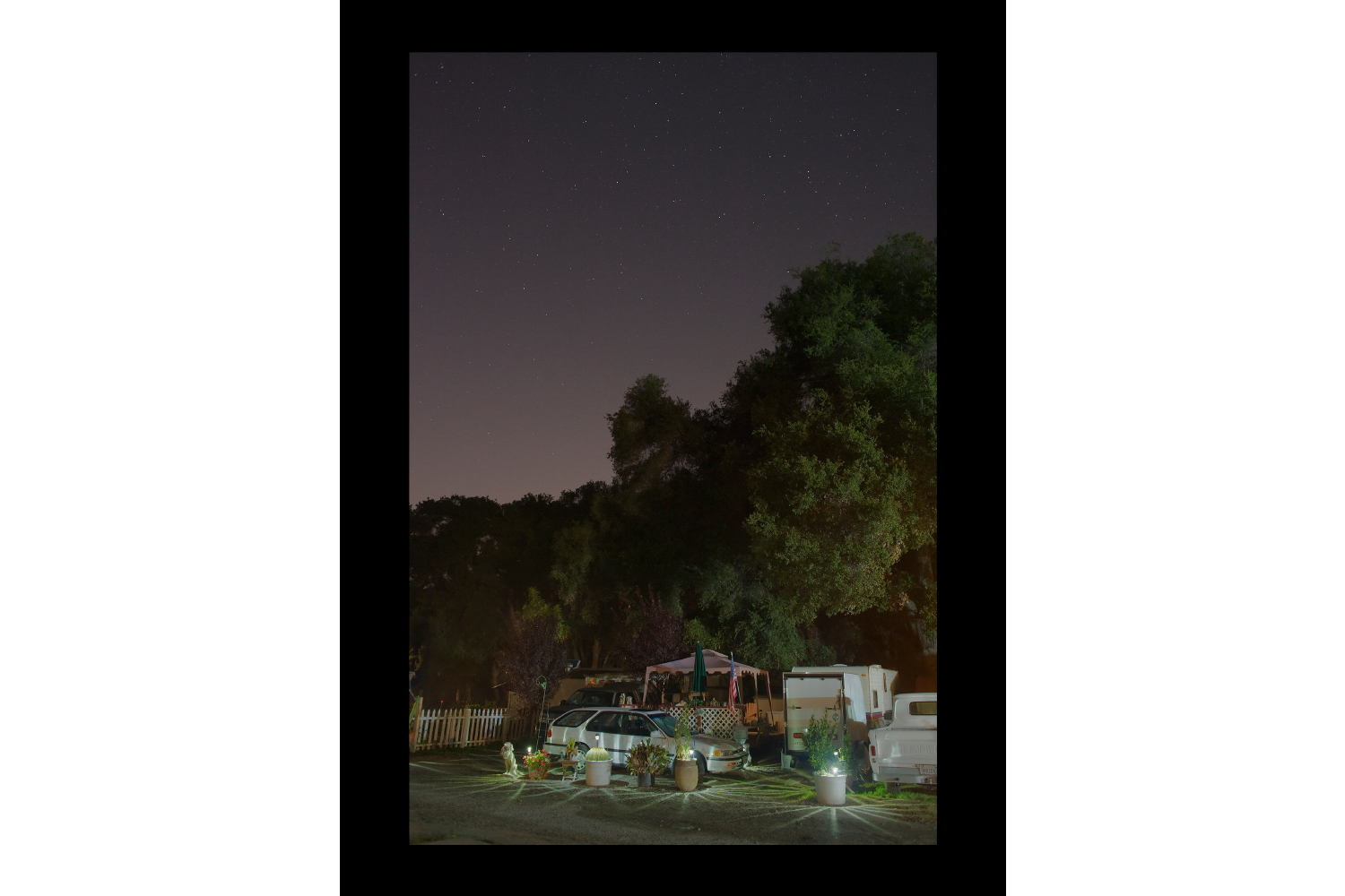 "#7386 Parked Car, Campsite Lot, Riverside, CA, 2011, 26""x36"""