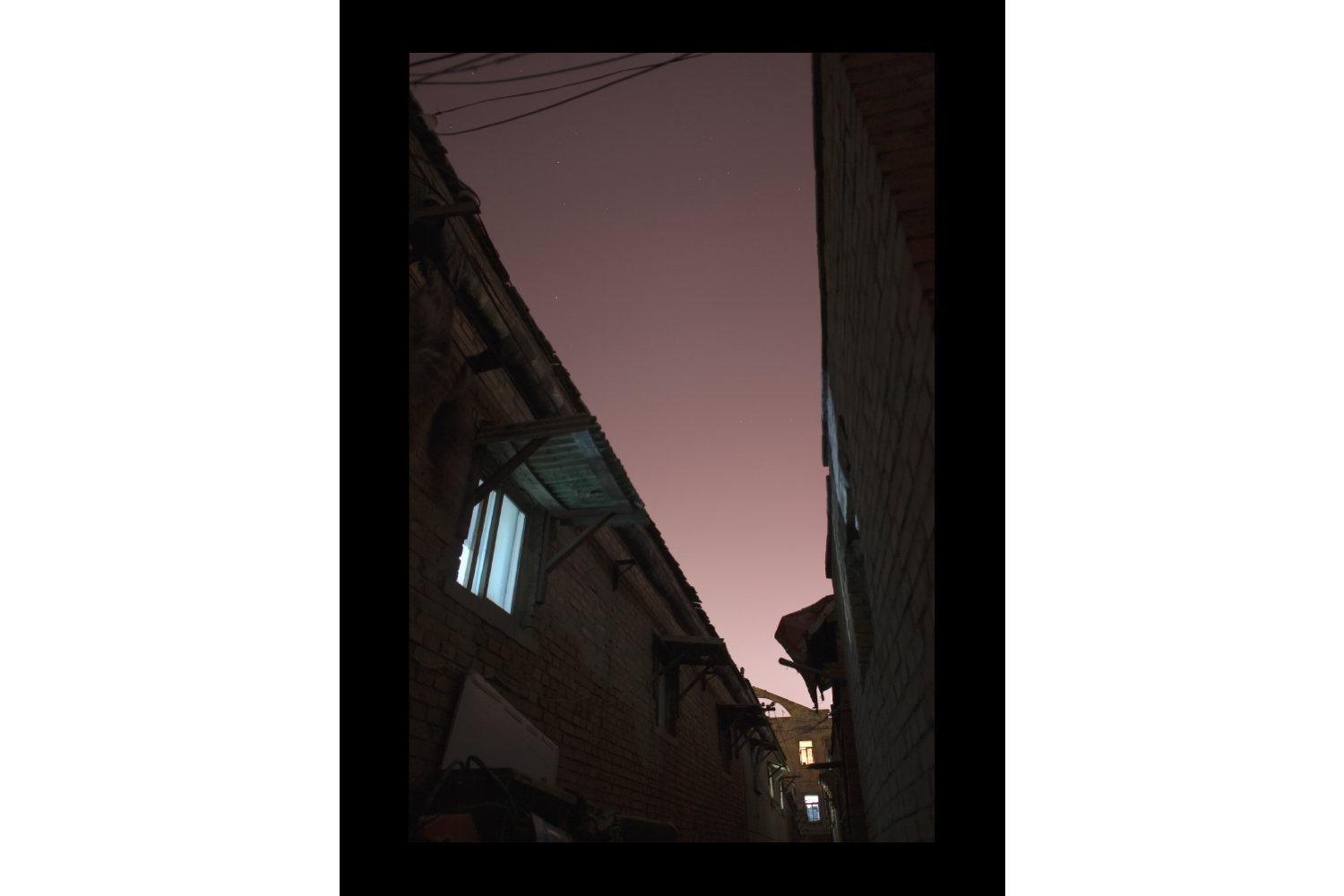 "#7637A Hutong (alley) Window, Hengshui, China, 2010, 26""x36"""