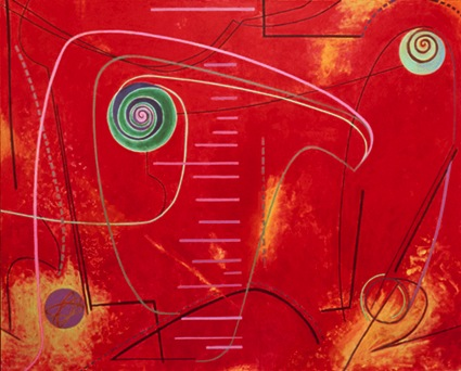 "Pulser, 40''x50"", acrylic on canvas, 2005"