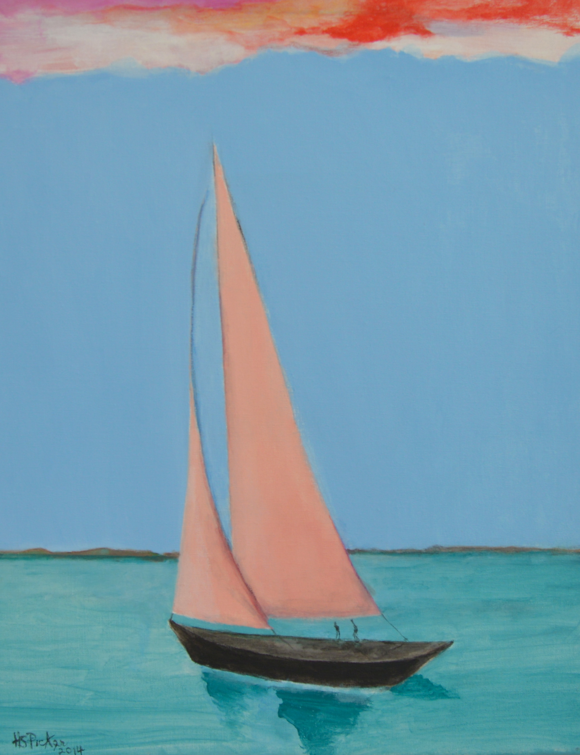 Herniette Simon Picker, Sunset Sail
