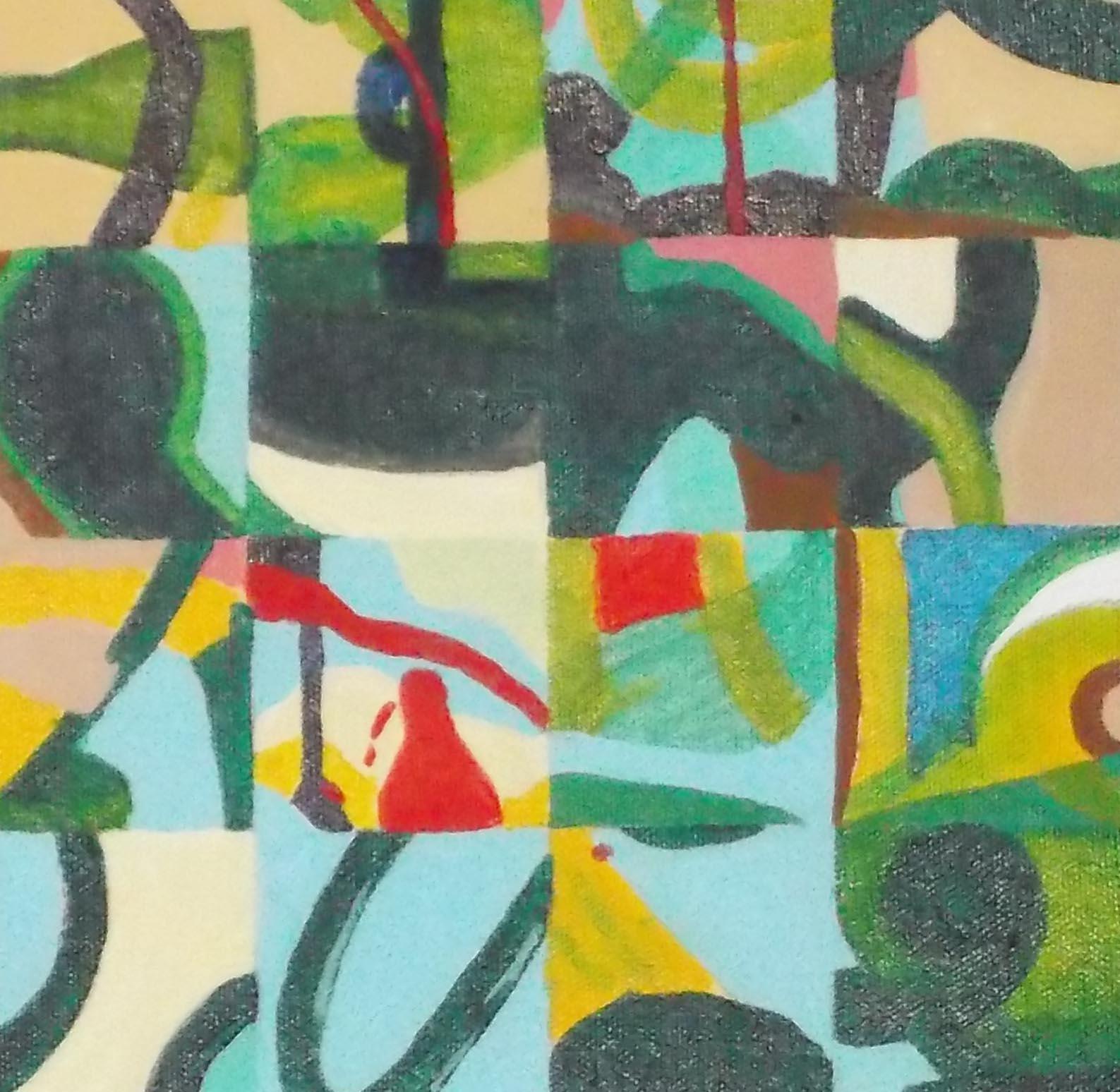 """Strange fruit, 8"""" x 8"""", acrylic on canvas, 2015"""