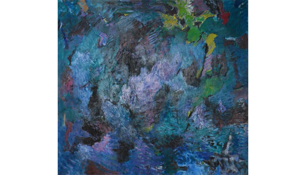 """Cascade, oil on canvas, 72"""" x 78"""""""