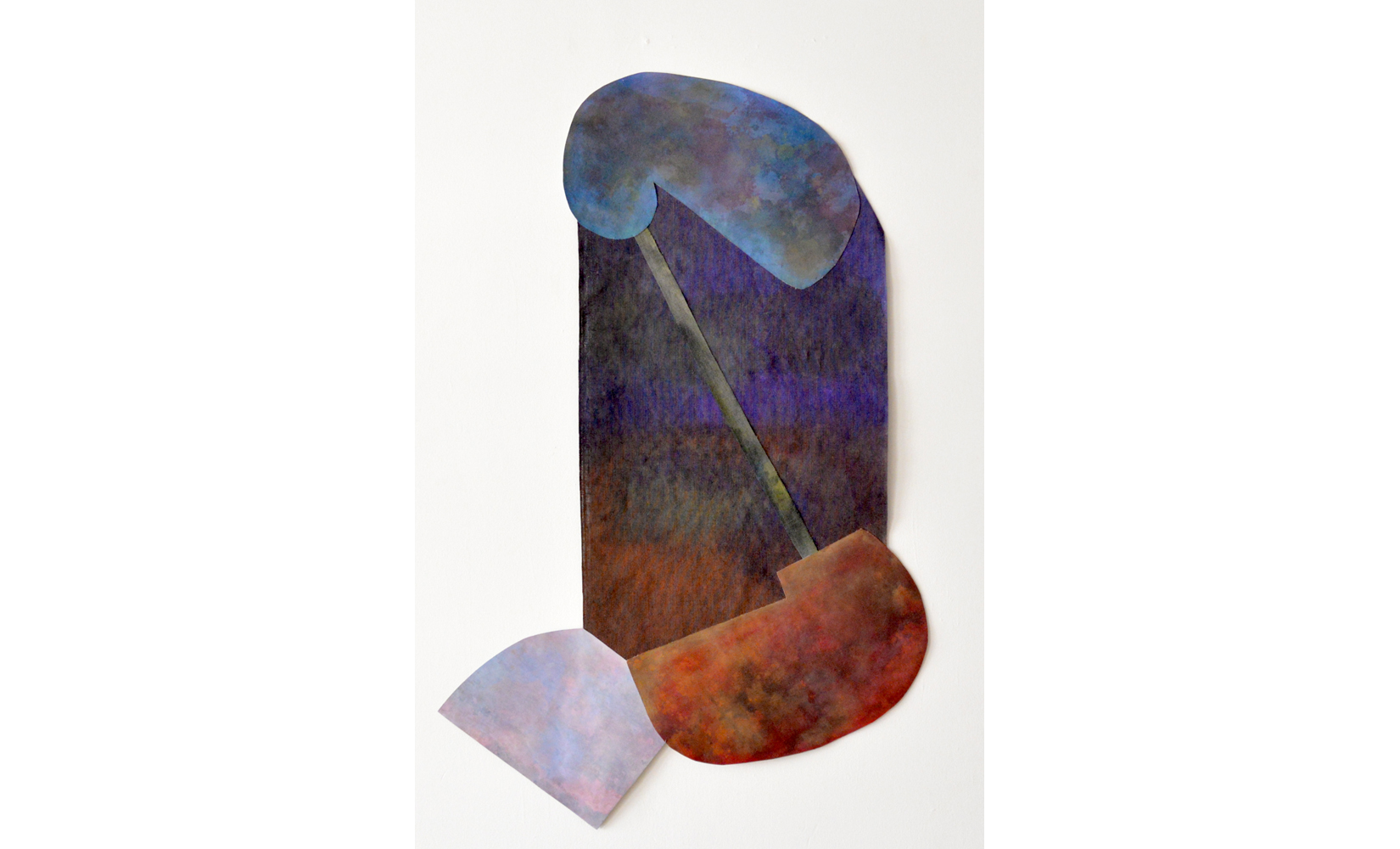 """Head Heart Hand, Acrylic on jute and canvas, 70"""" x 46"""", 2016"""